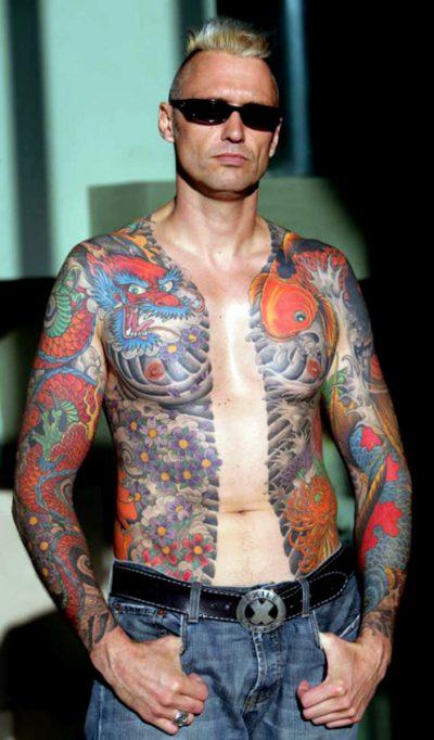 Tatuajes en Todo el Cuerpo Japonés