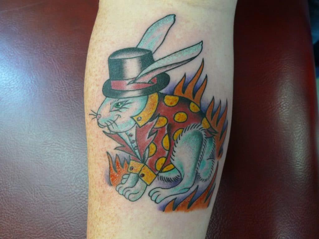 Tattoo Neotradicional Conejo