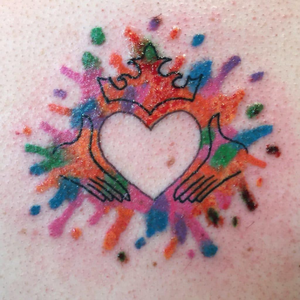 Tatuaje en Honor a Mi Abuelo Corazón