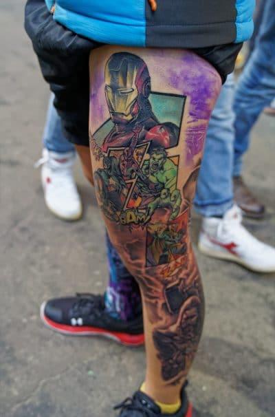 Tatuaje Ironman Cómic