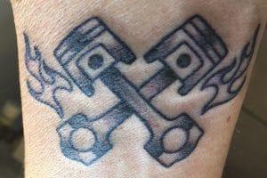Tatuaje Pistón