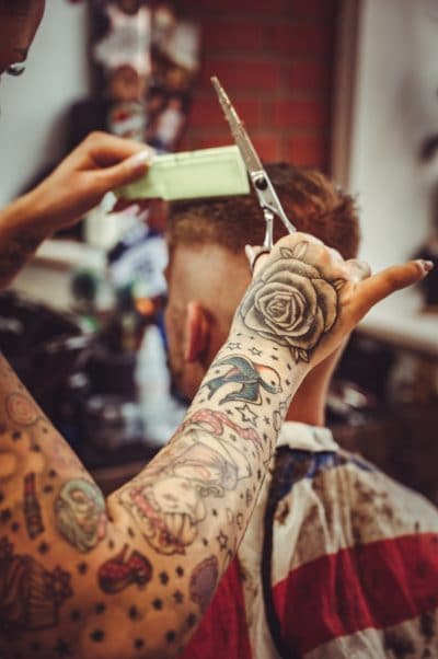 Tatuajes de Brazo Entero Tijeras