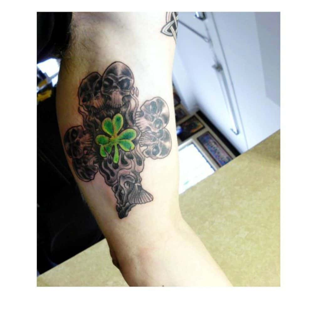 Tatuajes de Trébol Calaveras