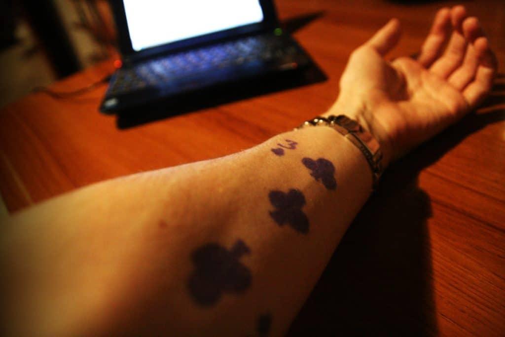 Tatuajes de Trébol Carta