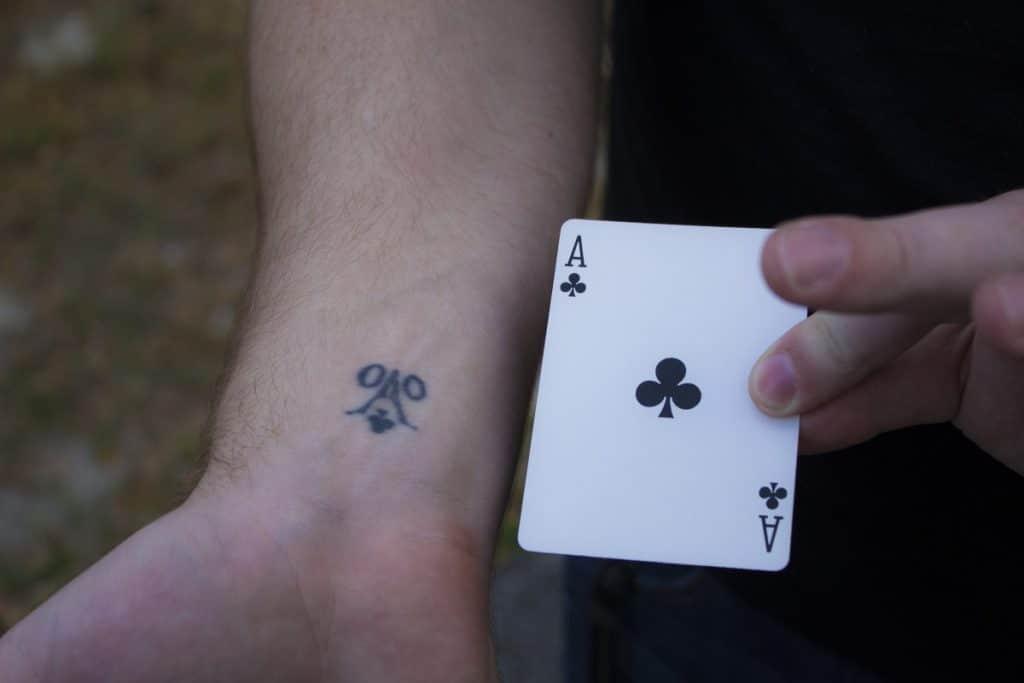 Tatuajes de Trébol Cartas