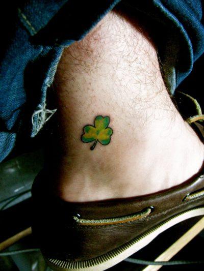 Tatuajes de Trébol Pie