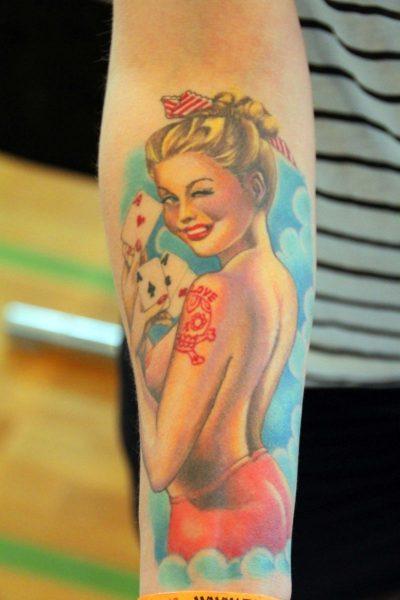 Tatuajes de Trébol Pin Up