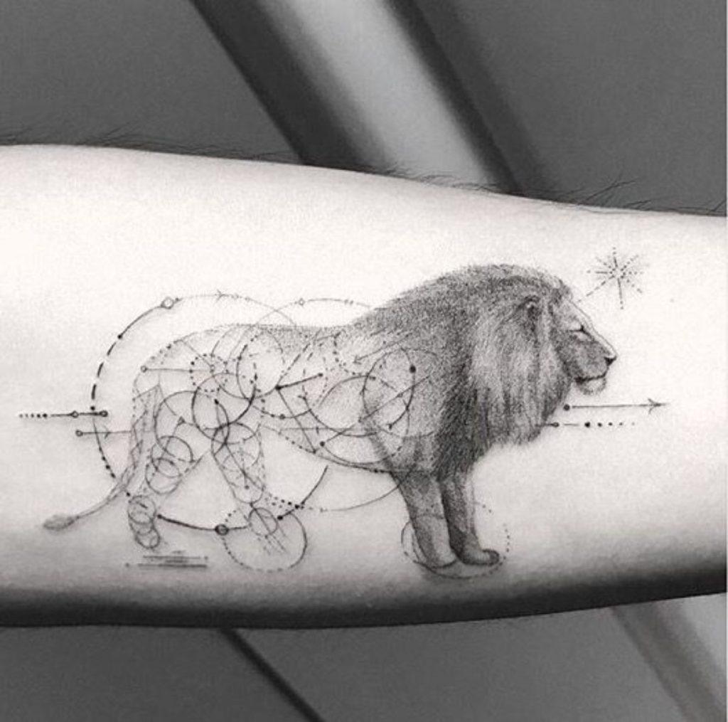 Tatuajes del Signo Leo Círculos