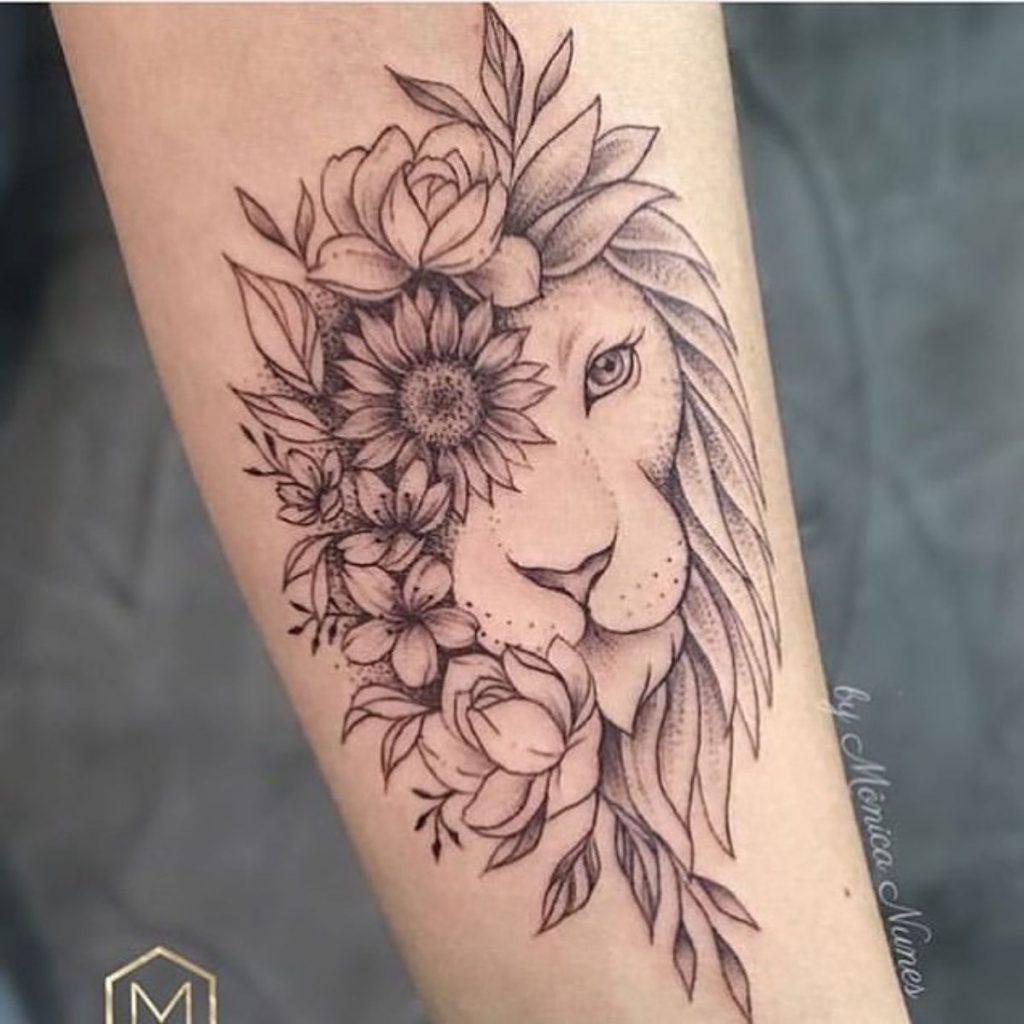 Tatuajes del Signo Leo Flores