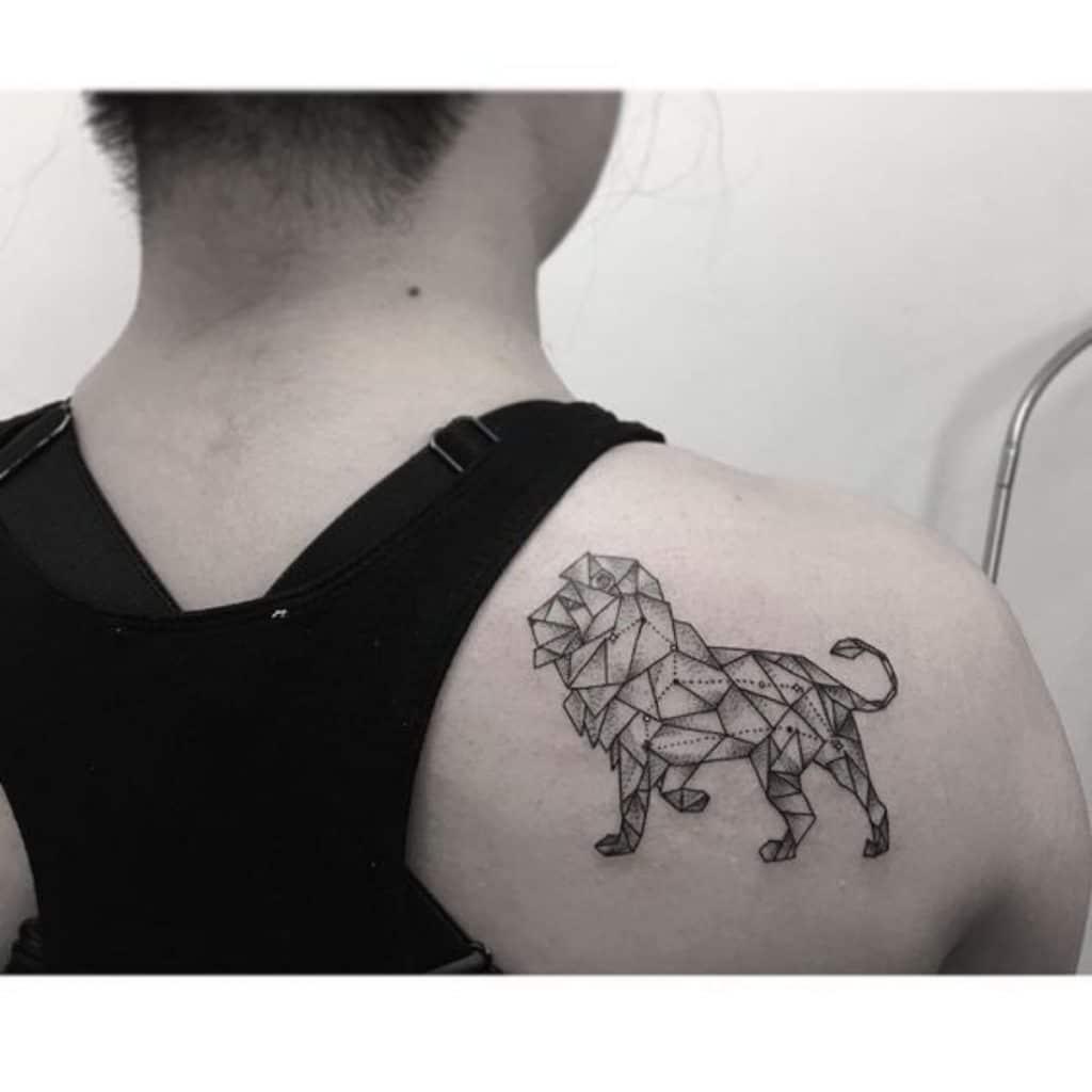 Tatuajes del Signo Leo Geométrico