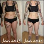Tatuajes antes y después de adelgazar