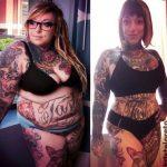 Por suerte, una pérdida de peso espectacular no conlleva perder los tatuajes