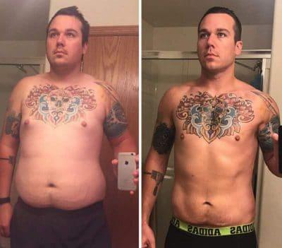 Tatuajes antes y después de perder peso
